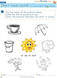 Phonics worksheets long vowel worksheets short vowel worksheets identify beginning and ending sounds phonics matching worksheets teaching phonics. Phonics Worksheets Lesson 2 Short Vowel U