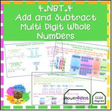 19 Best 4 Nbt 4 Add Subtract Multi Digit Whole Numbers