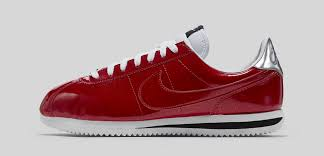 nike cortez red leather