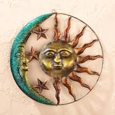 sun and moon 3d metal wall sculpture rustic art decor home accent indoor outdoor decoration on sun moon 3d metal wall art with amazon sun and moon 3d metal wall sculpture rustic art decor
