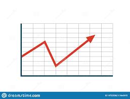 Arrow Chart Re Growth Trend Arrow Chart Icon Stock Vector Illustration