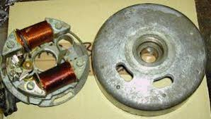 powerdynamo for bultaco sherpa 250 350 unscrew the old stator and take it off the engine pull the rotor off you will need a puller for this take the woodruff key from the crank