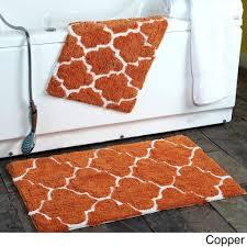 quickly orange bathroom rugs bold design ideas bath rug set modern house 2 piece moroccan