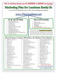 Real Estate Marketing Plan Best Free Business Planplate For Real Estate Agents Company Simple Plan