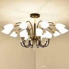factory direct personality crystal chandelier living room bedroom chandelier lighting modern minimalist industrial chandelier pendant lamps vintage
