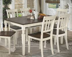 amazon ashley furniture signature design whitesburg dining room table rectangular vine cal brown cote white tables