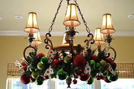 Images Of Chandeliers Decorated For Christmas Chandelier With Pink ...