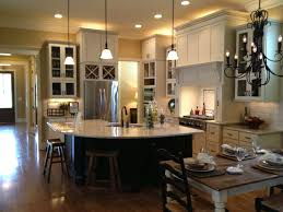 Kitchen Open To Dining Room Open Floor Plan Kitchen Dining Living Room White Kitchen Cabinets