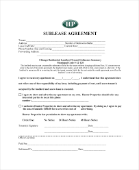 Apartment Sublease Template 11 Sublease Agreements Word Pdf Pages Free Premium Templates