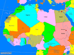 africa north africa political map  a learning family