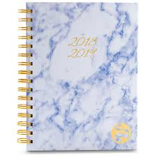 Academic Daily Planner 2018 2019 Academic Planner Daily Weekly Monthly Hardcover A5