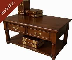 pillar mahogany coffee table