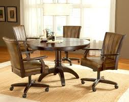 dining room table with chairs on casters amazing dining table chairs with casters dining chairs with casters swivel in dining table with rolling chairs