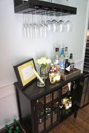 white home bar furniture. Tasteful Small Home Bars Ideas Black Wood Bar Cabinet Glass Flower Vase Brown Laminate Wooden Floor Hanging Drinking Storage Rattan Basket White Furniture Q