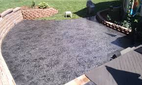 stained stamped concrete patio. Concrete Patio Washington Twp MI Stained Stamped R
