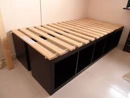 I think I have just found the solution for storage beds in the boys' room IKEA  Hackers: Expedit Single Bed - kids room