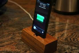 5 iphone 5 docks you can make or today cell phone charging station woodworking plans