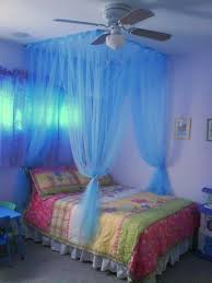 Amazon.com: 4 Poster / Four Corner Blue Bed Canopy Mosquito Net Full Queen  King: Kitchen & Dining