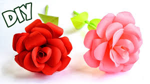 Make Easy Paper Flower How To Make Easy Paper Rose Crafts Tutorial