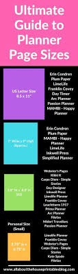 Binder Ring Size Chart Ultimate Planner Page Size Guide With Printable Reference