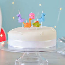 Dinosaur Birthday Cake Party Candles By Peach Blossom