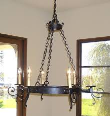 mission style chandelier iron black chandeliers old world foyer lighting mission style chandelier