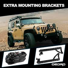 52 led light bar 2x 4 led light pod wiring harness bracket led light bar and wiring harness and bracket on jeep
