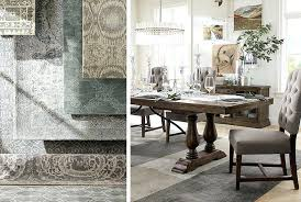 dining room rugs table round under