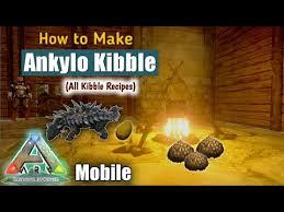 how to make ankylo kibble in ark mobile