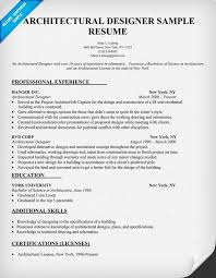Gallery Of Architectural Resume Examples