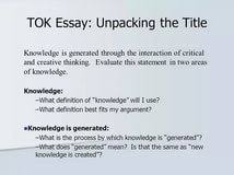 ib tok essay titles essay on conservation of environment in ib tok essay titles