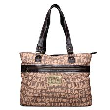 Best Style Coach Fashion Poppy Logo Large Brown Totes Eob Outlet 4KX35