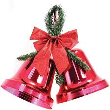Outdoor Christmas Bells Decorations Holiday Time Christmas Decor 100100 Double Bell Red Indoor 2