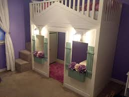 Cottage Loft bed playhouse with stairs, lights and desk   Do It ...