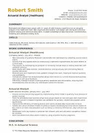 Actuary Job Description Inspiration Actuarial Analyst Resume Samples QwikResume