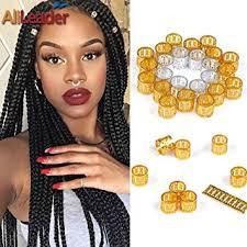 <b>Golden</b> Dreadlock Beads for Hair Adjustable No Rust <b>Aluminum</b>