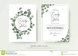 Wedding Invitations With Tree Designs Wedding Floral Watercolor Style Double Invite Invitation
