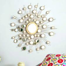 metal starburst wall decor mirrors mirror sunburst in circle small art silver