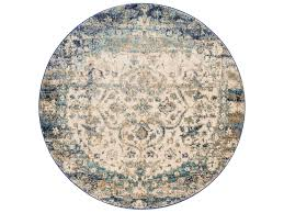 loloi rugs anastasia af 06 round blue ivory area rug