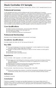 Stock Controller CV Sample