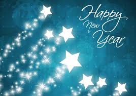 happy new year background. Beautiful Happy Star Filled Happy New Year Vector Background To L
