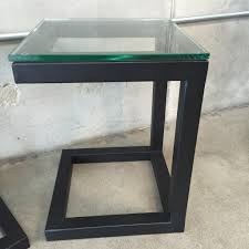 glass night stand metal and glass nightstand metal nightstands