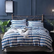 blue stripe duvet cover blue stripes bedding sets cotton queen king size brief duvet cover set blue stripe