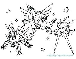 Legendary Coloring Pages For Kids Print All Pokemon Palkia Cute