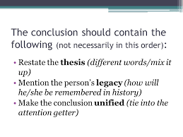 research paper conclusion paragraph ppt video online  the conclusion should contain the following not necessarily in this order