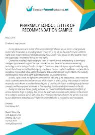 Letters Of Recommendation Personal Best Pharmacy School Letter Of Recommendation Sample