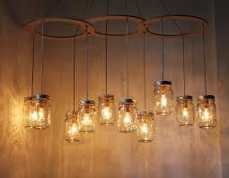 diy kitchen lighting fixtures. Image Of: Diy Chadelier Mason Jar Light Fixtures Kitchen Lighting