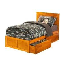 Twin Platform Bed With Flat Panel Foot Board And 2 Urban Drawers In ...