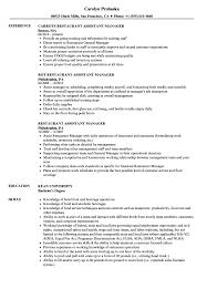 Restaurant Manager Resume Skills Restaurant Manager Resume Sample Free Valid Resume Template For