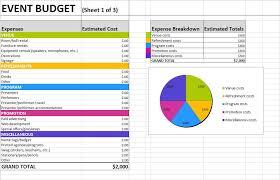 Event Budget Sheet Atlas Opencertificates Co